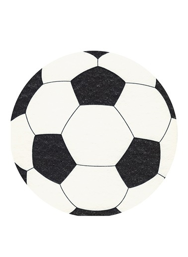 Dünya Style Futboll Yuvarlak Peçete Renkli